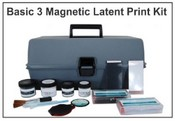 Basic 3 Magnetic Latent Print Kit - Hinged Lifters