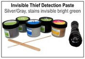 Thief Detection Paste TPISG2, Silver/Gray, stains Bright Green