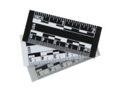 Black/White Print Adhesive Backed Photo Scales
