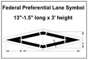 Federal Spec Preferential Lane Stencil
