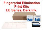 Elimination Print Kits CKFPEP LE, Law Enforcement Dark Ink Pad Elimination Print Kit