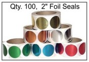 Embosser Foil Seal Foil Seals Blank seals for use with embossers