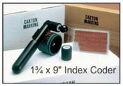 "HHCM-I, 1-3/4"" x 9"" Index Coder Porous ""Indexing"" Hand Coder- 1-3/4"" x 9"" Print Area"