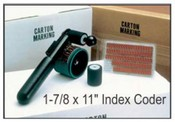 """HHCM-R, 1-7/8"""" x11"""" Index Coder Porous """"Non-Indexing"""" Hand Coder- 1-3/4"""" x 11"""" Print Area"""