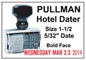 1-1/2 Pullman Hotel Line Dater