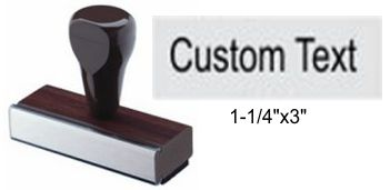 "1"" x 2-1/2"" Custom Rubber Stamp