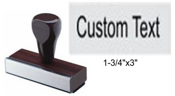 "1-1/4"" x 3"" Custom Rubber Stamp