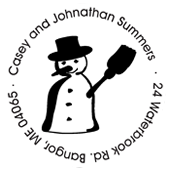 Holiday Snowman Embossing Seal