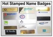 Hot Stamping Name Badges