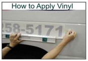 Instructions on How To Apply Vinyl Lettering