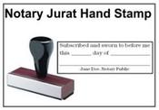 Hand Stamp Jurat Notary Stamp