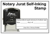 Self-Inking Jurat Notary Stamp