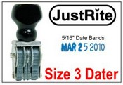 PD-3 Pullman Line Dater Justrite Line Dater JustRite BD-3 Line Dater
