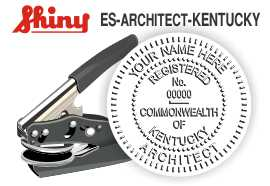 Kentucky Architect Embossing Seal