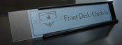 Holders sold separately. & Lexan Clear Plastic Nameplate Insert