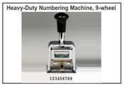 Lion Numbering Machine B-71 Lion 9 Wheel, 7 Movements