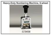 Lion Numbering Machine Lion C72, 6 Wheels, 7 Movements