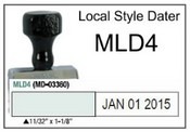 (MLD4) Local Style Line Dater Justrite (MLD4) Local Style Line Dater