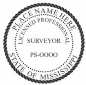 Mississippi State Surveyor Stamp