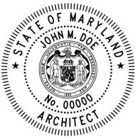 Maryland Architectural Stamp