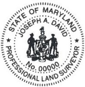 MARYLAND Pre-Inked State Surveyor Stamp