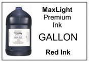 MAXLIGHT Premium Red Ink, Gallon