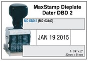 MaxStamp DBD 2 Die Plate Dater