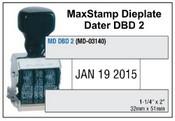 MaxStamp DBD 2 Die Plate Dater Double Bridge Dater