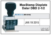 MaxStamp DBD 2-1/2 Die Plate Dater Double Bridge Dater