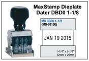 MaxStamp DBD0 1-1/8 Die Plate Dater