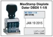 MaxStamp DBD0 1-1/8 Die Plate Dater Double Bridge Dater
