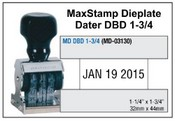 MaxStamp DBD 1-3/4 Die Plate Dater Double Bridge Dater