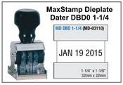 MaxStamp DBD 1-1/4 Die Plate Dater