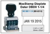 MaxStamp DBD 1-1/4 Die Plate Dater Double Bridge Dater