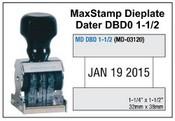 MaxStamp DBD 1-1/2 Die Plate Dater Double Bridge Dater