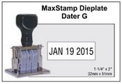Millennium Die Plate Dater, Size G
