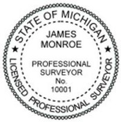 Michigan Pre-Inked State Surveyor Stamp