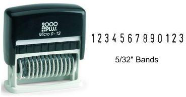 Micro 2000 Plus Numbering Stamp 0-13