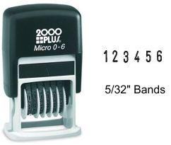 Micro 2000 Plus Numbering Stamp 0-6