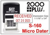 2000 Plus S-160 Micro Self Inking Dater