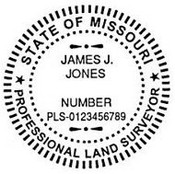 Missouri State Surveyor Stamp