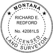 Montana State Surveyor Stamp