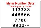 Mylar Numerical Stencil 7.5 Mil Mylar Numerical Stencil Sets  Stencil Number sets