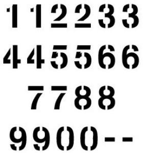 Mylar Numerical Stencil 7 5 Mil Mylar Numerical Stencil Sets Stencil