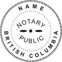 Notary Stamp British Columbia Self-Inking Notary Stamp British Columbia Notary Stamp British Columbia Public Notary Stamp Public Notary Stamp