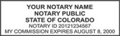 Notary Stamp Colorado Self-Inking Notary Stamp
