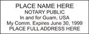 Notary Stamp Guam Self-Inking Notary Stamp