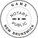 Notary Stamp New Brunswick Self-Inking Notary Stamp