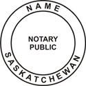 Notary Stamp Saskatchewan Pre-Inked Notary Stamp