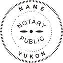 Notary Stamp Yukon Self-Inking Notary Stamp